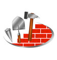 construction symbol for business vector image vector image