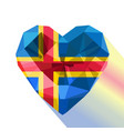 crystal alandic heart flag of the land islands vector image