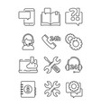 customer service help icon office web or online vector image vector image