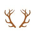 Deer horn vector image vector image