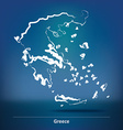 Doodle Map of Greece vector image