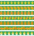 Easter colorful borders vector image vector image