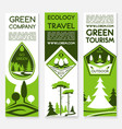 eco green travel banners vector image vector image