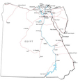 Egypt Black White Map vector image vector image