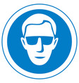 eye safety warning sign vector image