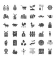 farming solid web icons vector image vector image