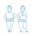 fat girl in sportswear makes selfie vector image vector image