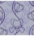 Floral blue vintage seamless background vector image vector image