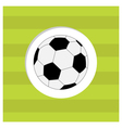 Football soccer ball icon on green grass field vector image vector image