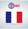 france flag isolated on modern background with vector image vector image