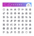 future line icons set vector image vector image