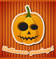 halloween party festive poster vector image vector image