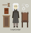 hand drawn legal judge vector image vector image
