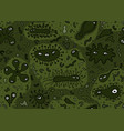 hand drawn seamless bacterium pattern vector image