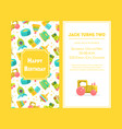 happy birthday greeting card yellow party vector image vector image