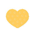 heart crisp cookie snack isolated on white vector image