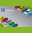 isometric car in the parking vector image vector image