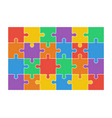 jigsaw puzzle set of 24 colorful pieces vector image