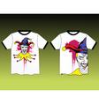 joker shirt vector image vector image