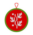 knitted christmas decoration plant vector image