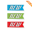 Label stitch NEW tag - - EPS10 vector image vector image