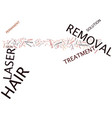 laser hair removal tips text background word vector image vector image