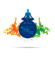 lotus pose doing men yoga day vector image