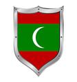 Maldives flag button vector image vector image