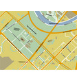 map of sparrow hills in moscow yellow color vector image