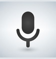 microphone icon isolated on modern background vector image vector image