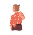 mute communication woman ignoring smb saying vector image vector image