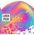 neon fluid paint splatter artistic template vector image