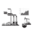 Oil and gas Factory icons vector image