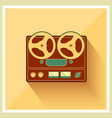 Open Reel Recorder on Retro Vintage background