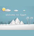 papercut of pyramid in egypt art vector image
