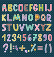 patchwork alphabet font letters symbol style vector image vector image