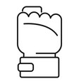 power fist icon outline style vector image vector image