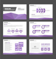 Purple polygon presentation templates flat design vector image