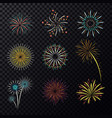pyrotechnic explosion or fireworks for celebration vector image vector image