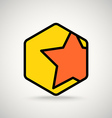 Red star appication or web interface icon vector image