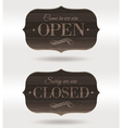 Retro wooden signs - open and closed vector | Price: 1 Credit (USD $1)
