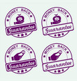 round purple stamp set vector image vector image