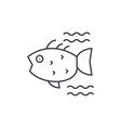sea fish line icon concept sea fish linear vector image vector image