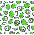 seamless pattern with green lime background vector image vector image