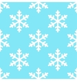 seamless snowflake pattern winter background vector image