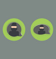 secret chat flat style icon vector image