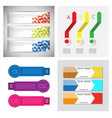 set of infographic arrows with 3 step up options vector image vector image
