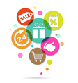 Shopping Icons Poster vector image vector image