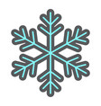 snowflake filled outline icon new year christmas vector image