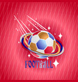 soccer ball on an abstract background vector image vector image